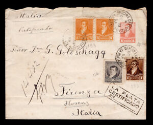 ARGENTINA - postal history 1893 cover to Italy