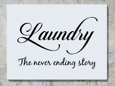 Laundry The Never Ending Story Wall Decal Art Sticker Picture