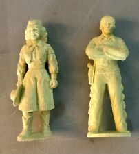 Marx Roy Rogers and Dale Evans 60mm Playset Figures