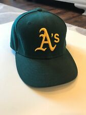 new product 94039 8a320 New Era Oakland Athletics MLB Authentic Baseball Cap Hat Size 7 55.8 CM