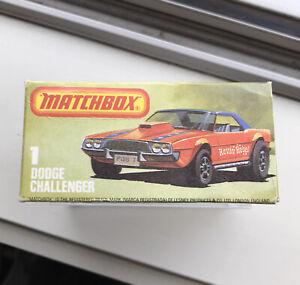 Matchbox 1 Dodge Challenger Rare L Box Superfast Lesney