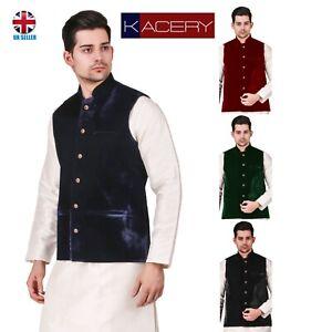 Men's Indian Velvet Waist Coat Nehru Jacket Modi Jacket - MJ2010