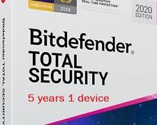 Bitdefender TOTAL Security 2020 1 dispositivo di 5 anni PRE-ATTIVATA leggere descrizione
