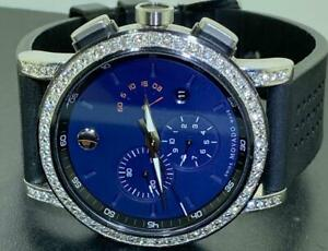MOVADO MENS MUSEUM CARIBBEAN EDITION BLUE DIAL DIAMOND WATCH