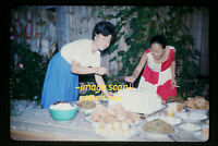 1964 Korean Women at a Party in Korea, Original Kodachrome Slide b14a