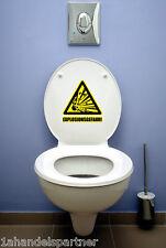 BAD WC Badezimmer Wandaufkleber Wandtattoo EXPLOSIONSGEFAHR Deko Aufkleber SET