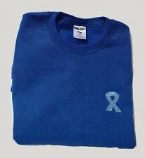 Cancer Awareness M Sweatshirt Colon Ovarian Ribbon Royal Blue Crew Neck New