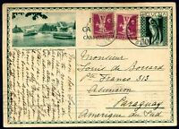 SWITZERLAND TO PARAGUAY Postal Stationery 1932 + 2 Additional Stamps, VF
