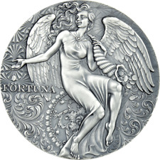 2021 Cameroon Celestial Beauty Fortuna 2 oz Silver Antiqued Coin - 500 Made
