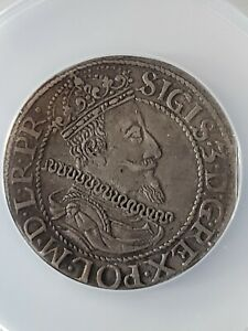 1611 ORT Gdansk R4 Ultra Rare Silver Coin