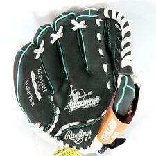 Rawlings 11.5 inch Lefty Fastpitch Softball Glove Black & Teal WFP115MT LHT New