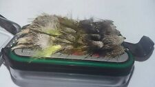 20 Mixed Muddler Fishing Flies In a Waterproof Fly Box