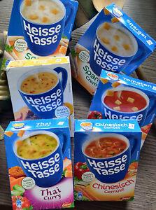 24 Packungen  Erasco Heisse Tasse verschiedene Sorten 1 Packung je 3 Beutel