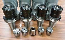 CAT40-ER32 COLLET CHUCK---4 CHUCKS & 5 COLLETS    Tool Holder Set
