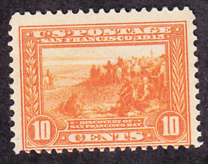 US Scott 400A old 10c Panama-Pacific Expo issue perf 12 M/H/OG CV $180