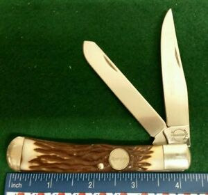 Remington USA R12 Trapper knife, Stagalon handles