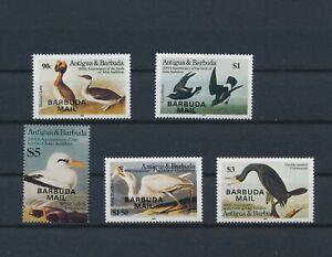 LO57143 Barbuda 1985 overprint Audubon animals birds fine lot MNH
