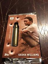 2017 TOPPS THE WALKING DEAD SEASON 7 PROP RELIC CARD SASHA WILLIAMS 10/10