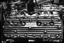 12x18 in. Vintage Edmunds Custom Flat Head Engine, Hot Rod Garage Art