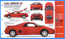 Panther SOLO UK 1989-1990 Spec Sheet Brochure Poster IMP Hot Cars Group 1 #29