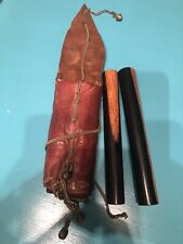 New ListingVintage Percussion Instruments Claves Round Drum Wood Wooden Sticks in Case