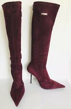 be5382e7c52 Le Silla Suede Stretch Leather Boot Size 39 - 8.5 Maroon retail  995
