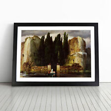 More details for the isle of the dead vol.3 by arnold bocklin wall art framed print picture