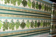 Sage Thyme Border Stripe Food Cotton Fabric Quilting Treasures Herb Garden YARD