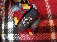 J Garcia Collector's Edition Tie Blue Yellow Purple Red Geometric 100% Silk