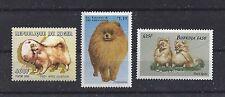 Dog Art Head & Body Study Postage Stamp Collection POMERANIAN 3 x MNH
