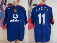 Vintage Manchester United 2005 2006 away shirt Nike Giggs 11 size L