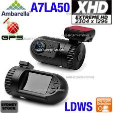 Dash cam 2K Mini Ambarella A7 GPS 1296P In Car Backup Blackbox Security Camera