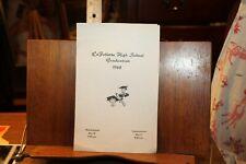 Vintage LaFollette High School TN 1968 Graduation Commencement Program