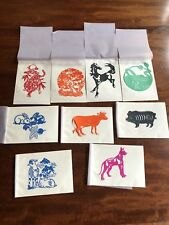 Original Colorful Hand Cut Paper Chinese Art - Zodiac Figures