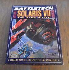 Battletech Solaris VII Game World Box Set 1660 FASA 1991 UNPUNCHED & COMPLETE