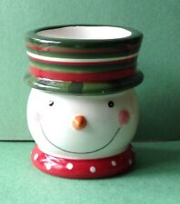 Yankee Candle Ellen Krans Christmas Snowman Votive Candle Holder