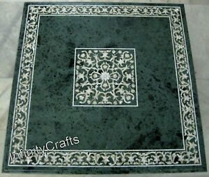 36 x 36 Inches Dining Table Top Marquetry Art Sofa Table with Patio Sofa Table