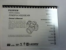 FUJIFILM HS20EXR/HS22EXR PRINTED INSTRUCTION MANUAL USER GUIDE 132 PAGES