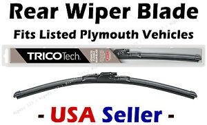Rear Wiper - Premium Beam Blade - fits Listed Plymouth Vehicles - 19160