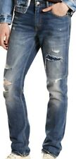 New Mens 511 Levi's Levi Strauss Slim Worn Destroyed Blue Jeans 30x32 30w 32L