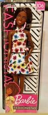 BARBIE Fashionistas African American Doll #106 Floral Dress & Accessory New 2019