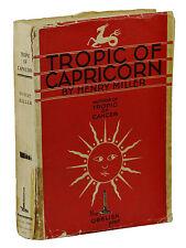 Tropic of Capricorn ~ HENRY MILLER ~ First Edition ~ 1st ~ 1939 Obelisk Press