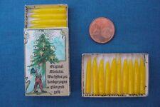 ECHTE handgezogene MINIATUR - WACHSKERZEN gelb Sort B b  + mit DEKO - Schachtel