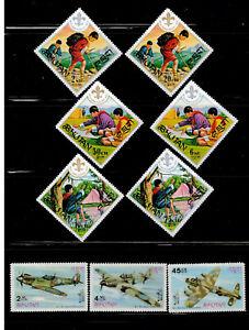 Bhutan Sc #134-139 & 88-88B Sets Mint Never Hinged MNH    A590