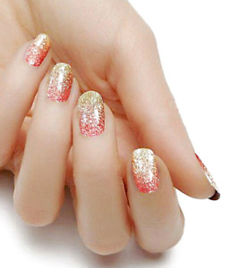 Rose Gold Ombre color real nail polish strips KHS4018 street art wraps