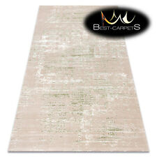 "SOFT AMAZING ACRYLIC RUGS ""DIZAYN"" 8841 Thick exclusive green beige HIGH QUALITY"