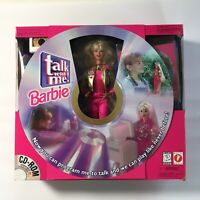 TALK WITH ME Barbie Doll #17350 CD-ROM Mattel USED w/ Box - Complete!