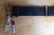 """New! Merona Women's Belt Size XL, Black Faux Leather, Wide, Fits 34.5"""" - 38.5"""""""