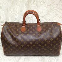 Louis Vuitton Brown Mono Boston Speedy Keep All 40 Hand Bag 16in x 10in x 7.5in