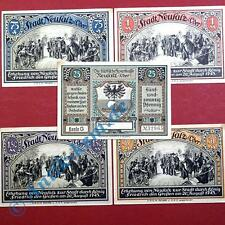 5 x Notgeld Neusalz , Nowa Sol , german emergency money , M/G 960.1 ,  kfr./unc